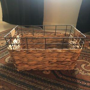 Metal and woven basket